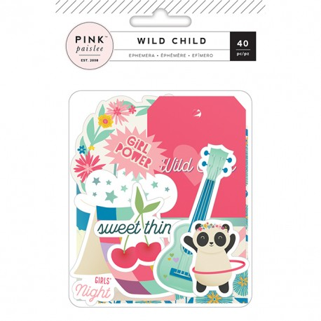 Набор высечек Pink Paislee Wild Child Ephemera Girl